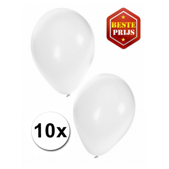 Witte ballonnetjes 10 stuks Shoppartners te koop