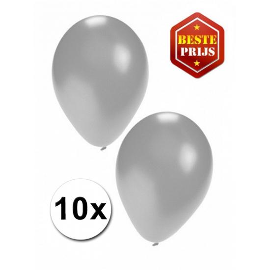 Zilveren ballonnetjes 10 stuks Shoppartners Feestartikelen diversen