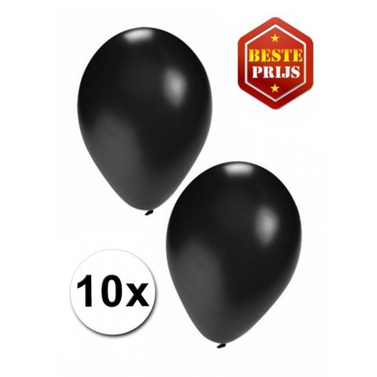 Feestartikelen diversen Zwarte ballonnetjes 10 stuks