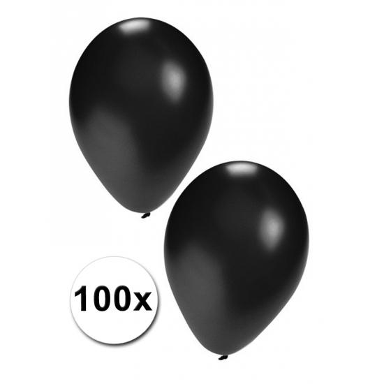 Feestartikelen diversen Geen Zwarte decoratie ballonnen, 100 st