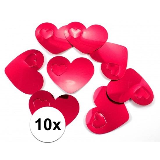 Merkloos 10 gekleurde mega confetti rode hartjes online kopen