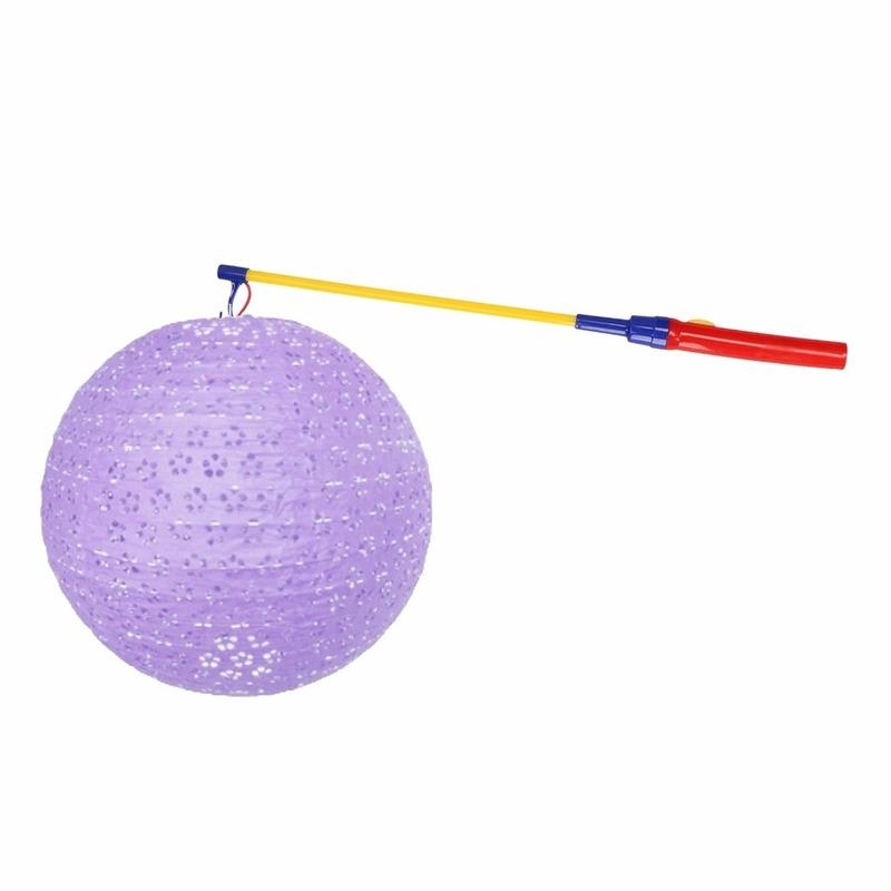 Shoppartners Complete lampionset lila 35 cm online kopen