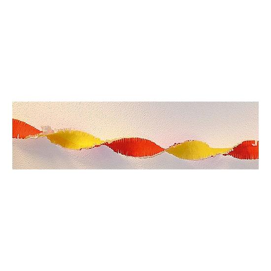 Oranje artikelen Crepe papier slinger rood / geel 30 meter online kopen
