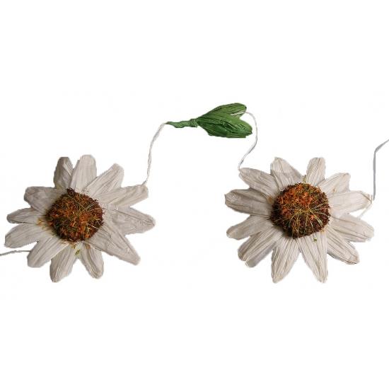 Merkloos Decoratie zonnebloemen slinger wit online kopen