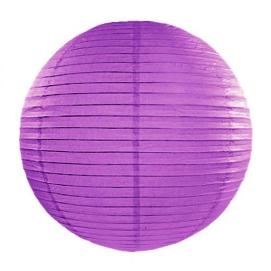Merkloos Donker paarse bol lampion 35 cm online kopen