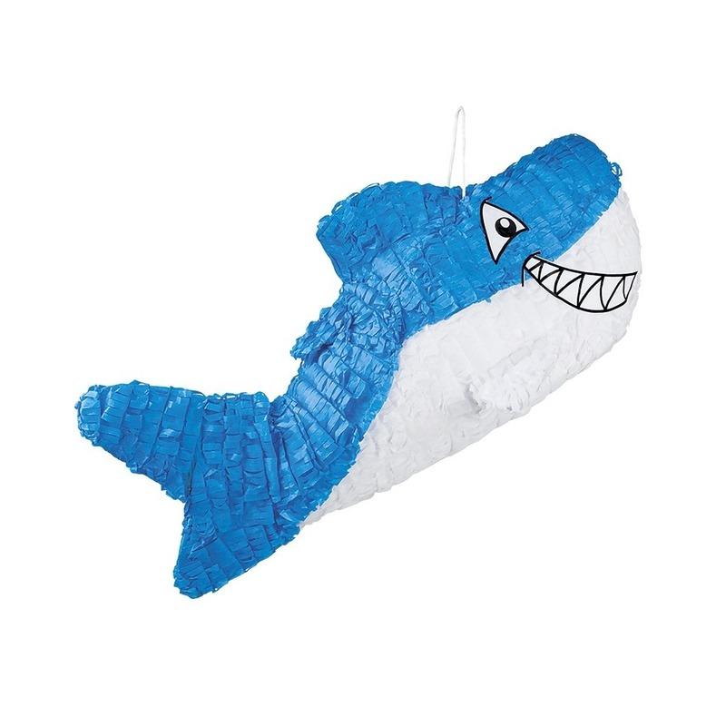Merkloos Pinata blauwe haai 60 cm online kopen