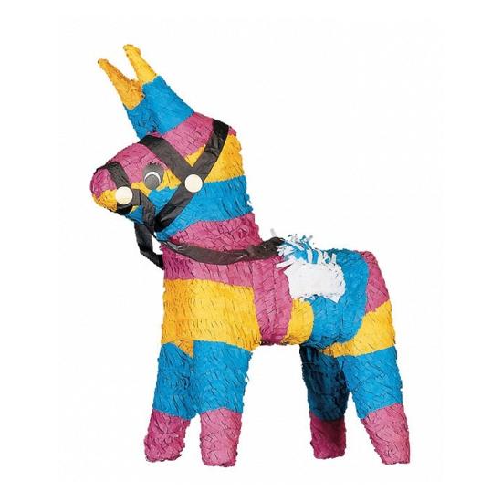 Merkloos Pinata ezel gekleurd 51 cm online kopen