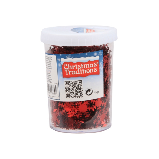 Bellatio Decorations Strooiconfetti sneeuwvlokken rood online kopen
